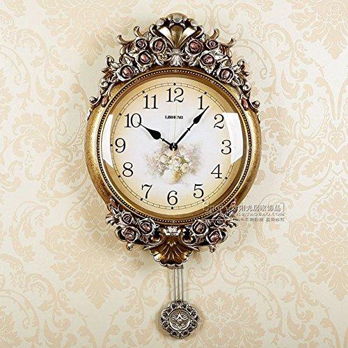 cleck Reloj de 2017 con movimiento uranio moldeado de lujo europeo - Acrílico sólido para salón, moderno y creativo, 18 cm, color champán. Vivienda: