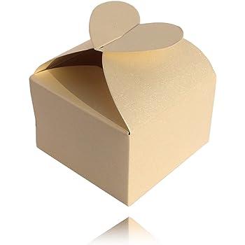 Einssein 12x Caja de Regalo Boda Enamorado Crema Perla Cajas Bonitas para cajitas Regalos Bombones Carton bolsitas Papel chuches Bodas Bautizo pequeñas pequeña recordatorios comunion Navidad Decorar: Amazon.es: Hogar