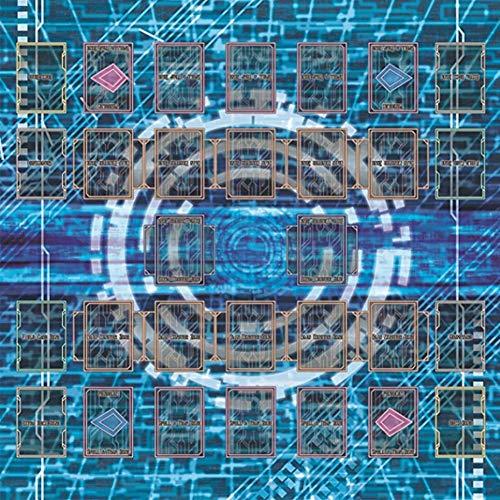 Dapei Gummi Spielmatte (60x60cm) für Yu-Gi-Oh Karte Spiel, Ägypten Mural Style Spiel König Zubehör Game Pad Play Mat
