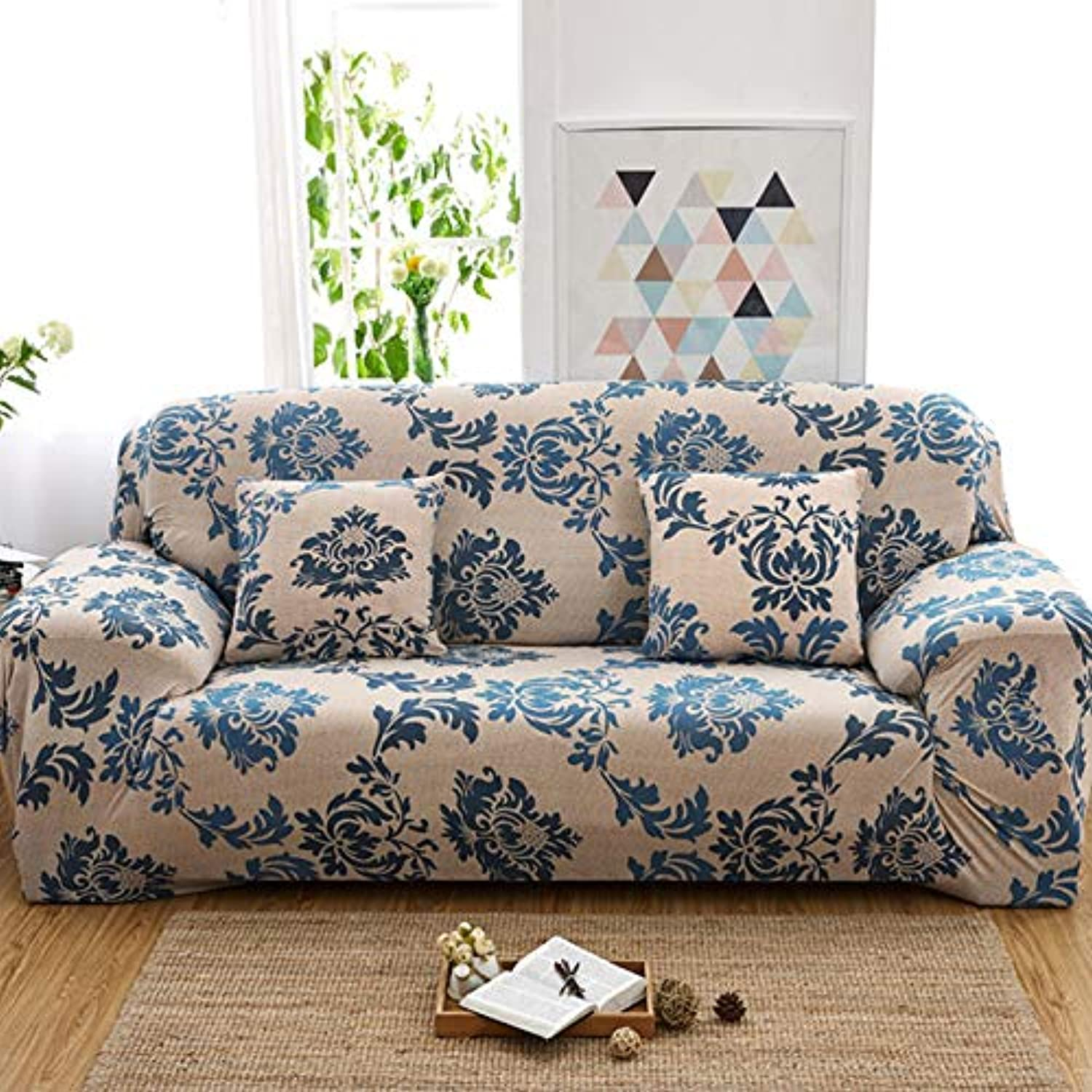 Universal Stretch Sofa Cover Living Room Armchair Corner Sofa Elastic Slipcovers L Shaped Sofa Cover European Floral Pattern   6, 1 Seater
