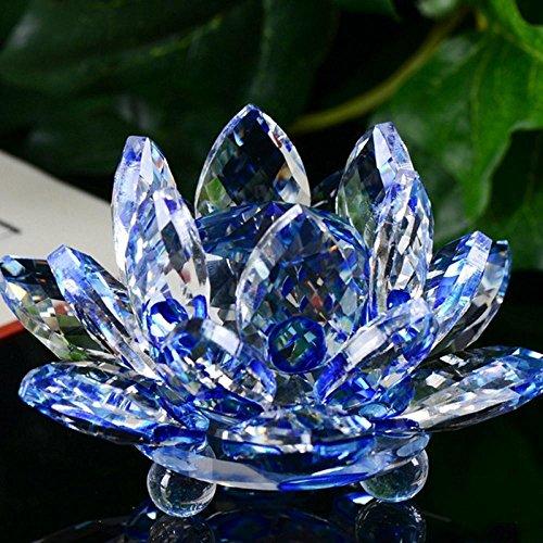 Mamum Presse-papier en verre de cristal en forme de fleur de lotus
