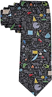 Men's Math Equations Trigonometry necktie Ties Novelty Business Formal Neckties
