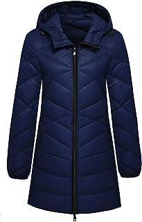 Wantdo Women`s Hooded Packable Down Jacket Light Weight Hip-Length Puffer Coat