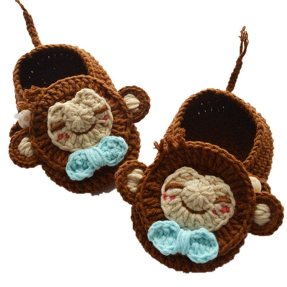 Albuquerque Mall Baby Newborn Infant Handmade Knit Bro Crochet 2021 new Socks Sandals Crib