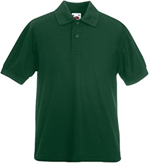 Fruit of the Loom Childrens Poly/Cotton Pique Polo Shirt