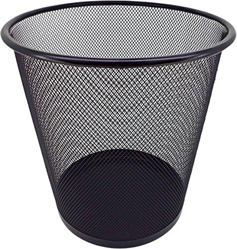 PAMEX Papelera de Rejilla Metálica (Negro)
