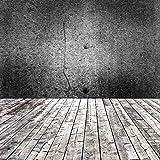 Fondo de Pared Oscura para fotografía Suelo de Madera de ladrillo Foco Brillante Escenario Fiesta mu...