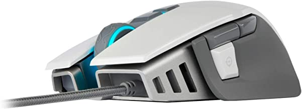 CORSAIR M65 ELITE RGB - FPS Gaming Mouse - 18,000 DPI Optical Sensor - Adjustable DPI Sniper Button - Tunable Weights - White