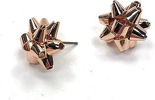 Kate Spade Bourgeois Bow Stud Earrings, Rose Golden
