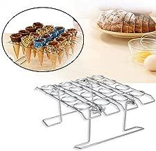 Oulensy 16 Trou Porte Acrylique Cornet de Glace Sushi Roll Main Support Transparent pour Outil de Cuisine