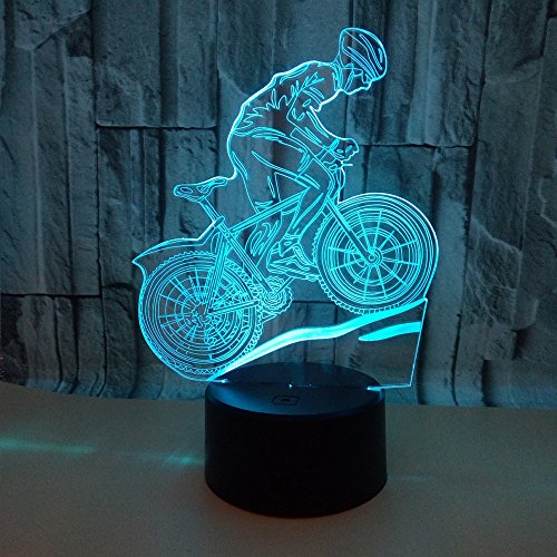 Luz Nocturna Para Niños,Bicicleta De Montañacon Mando A Distancia Y 16 Funciones...