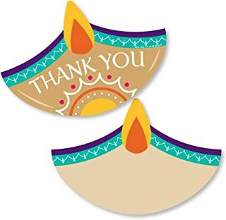Big Dot of Happiness Happy Diwali - Shaped Thank You Cards - Festival of Lights Party Thank You Note Cards with Envelopes ...