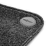 OneConcept Magic Carpet 75 - Heizmatte, Fußheizung, Heizteppich, elektrisch, Heizleistung: 75 Watt, Fläche: 60 x 40 cm, 3 Heizstufen, Kabelfernbedienung, Überhitzungsschutz, anthrazit - 5