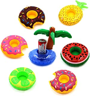 7 PCS Inflatable Pool Party Drink Floats Swimming Drink Holder