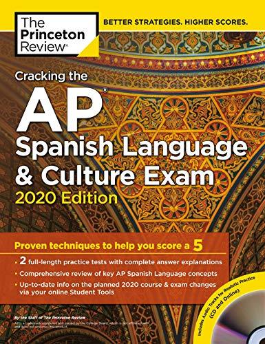 Cracking the AP Spanish Language & Culture Exam with Audio CD, 2020...