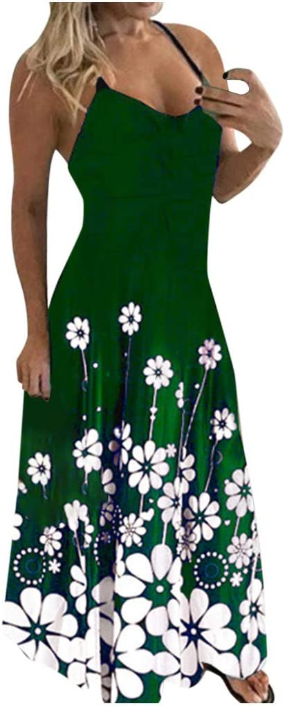 Women's Dresses Summer Casual Long Cami Print Quality Mail order inspection Dress Flowers Beac