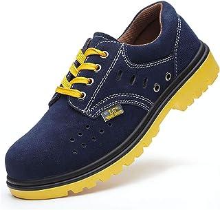 作業靴 電気絶縁滑り止めアイアンファイリングメンズ労働保険靴、皮脂防止、匂い防止、粉砕防止、ピアス防止、古い安全靴 安全靴 (色 : J j, サイズ さいず : 35)