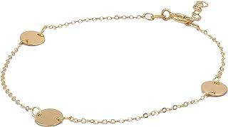 Bracciale in oro donna, con elementi lucidi. Tutto oro 14K, peso gr 1