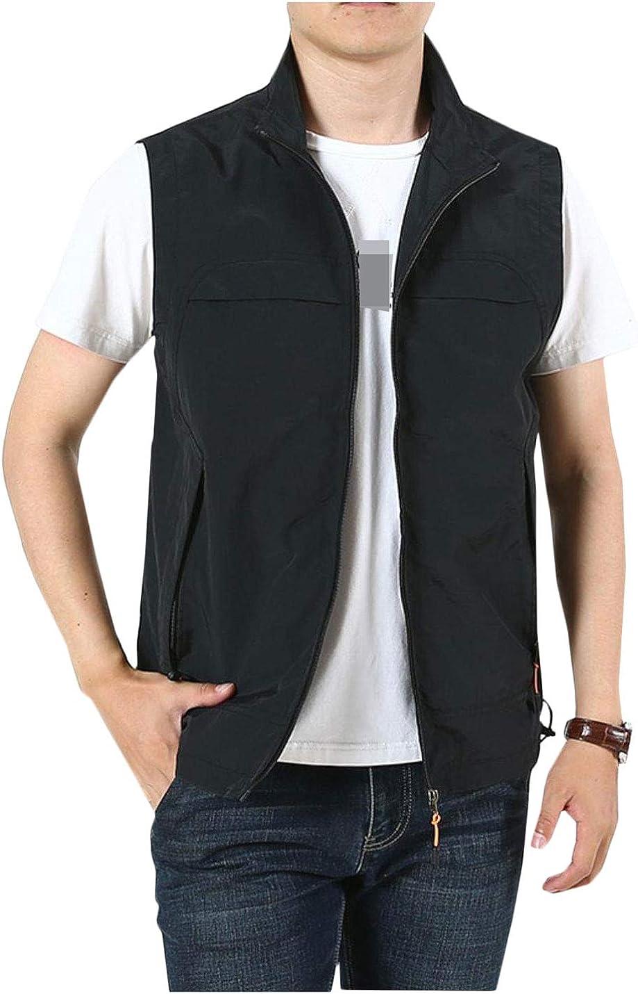 Hongsui Men's Lightweight Outdoor Sports Vest Plus Size Casual Vest
