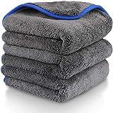 Fixget Auto Mikrofasertuch, 3er Set Auto Trockentücher Wasch Microfaser Handtuch Reinigungstücher...