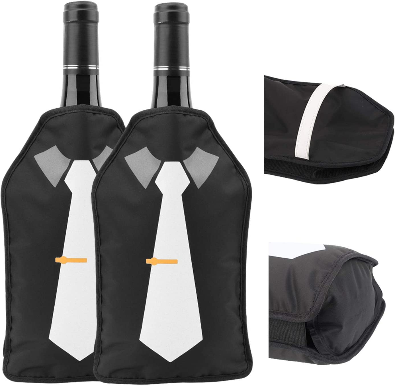 At the price of surprise Mail order 2 Pack Drink Wine Champagne Sleeve-Better Freezer Chiller Bottle