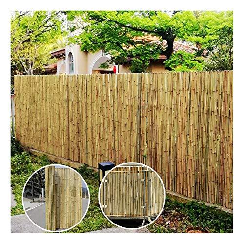 GDMING Protección Visual Valla De Bambú Pantalla De Privacidad del Balcón Durable Natural Protector Solar para Jardín Terraza Patio con Tubos Cerrados Y Sellados, 18 Tamaños