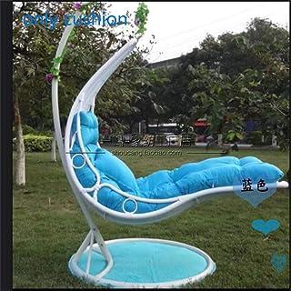 Sirena Asiento, Silla del Oscilación Mimbre Colgante Huevo Silla De La Rota Hamaca Almohadilla, Balcones Patio Jardín, Aire Libre O Interio-sin Sopote-Azul