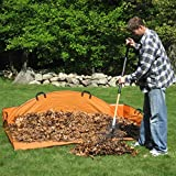 Gigantic 48-Inch EZ Leaf Hauler, Can Hold Up To 4 Wheelbarrow Loads of Leaves