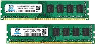 Motoeagle 16GB Kit (2x8GB) DDR3 1333MHz PC3-10600U Unbuffered Non-ECC 1.35V/1.5V CL9 2Rx8 Dual Rank 240 Pin UDIMM Desktop Memory Ram Module Upgrade