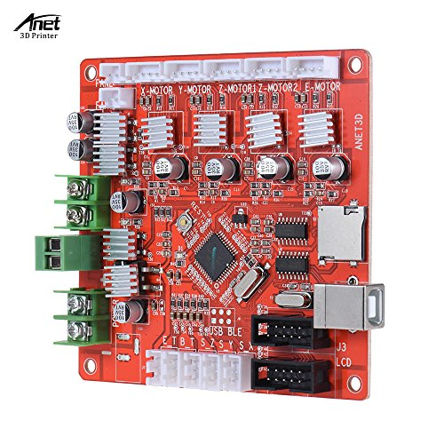 KKmoon Anet A1284-Base Control Board Mother Board Mainboard DIY Self Assembly 3D Desktop Printer RepRap i3 Kit (For Anet A6 3D Printer)