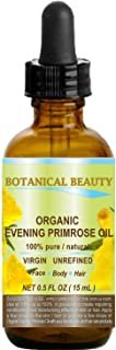 ORGANIC EVENING PRIMROSE OIL. 100% Pure / Natural / Undiluted / Unrefined /Certified Organic/ Cold Pressed Carrier Oil. Ri...