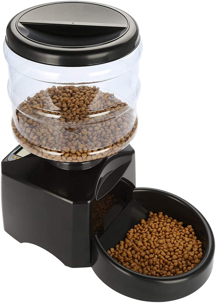 LSSJJ Pet Automatic Feeder Food 5.5L Bowl Electric Los Max 65% OFF Angeles Mall Dispenser