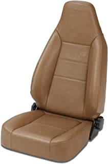 Bestop 39434-37 TrailMax II Sport Spice Front High Back All-Vinyl Single Jeep Seat for 1976-2006 Jeep CJ and Wrangler