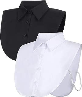 2 Pieces Fake Collar Detachable Blouse Dickey Collar Half Shirts False Collar for Women Favors