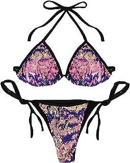 Best sequin triangle bikini Reviews