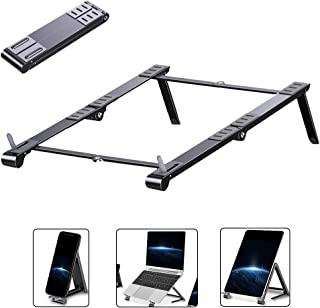 Laptop Stand, Foldable Ergonomic Laptop Stand from Aluminum Alloy, Portable Adjustable Standard Suitable for 11-17 inch,Gray