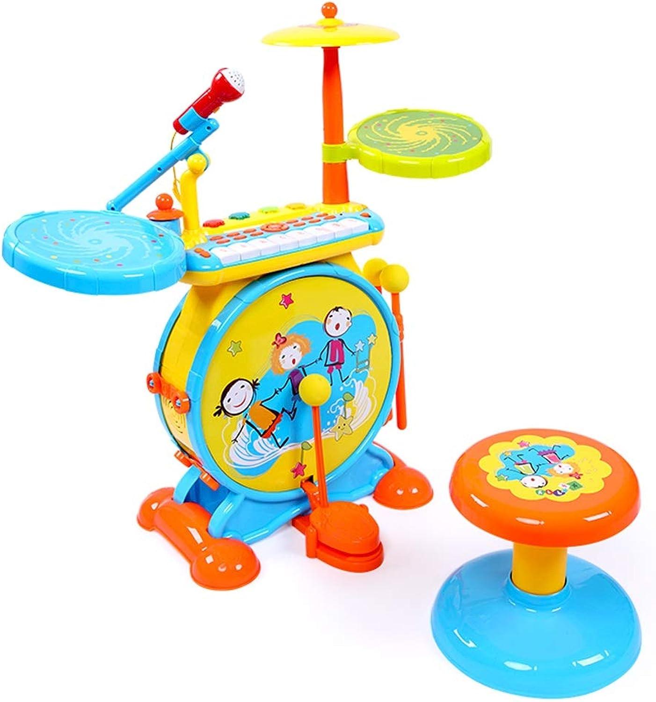 LIPENG-TOY Kinder Spielzeug Jungen 1-2-3-6 Jahre alt Schlagzeug Elektronische Tastenschlge Musikinstrumente Baby Jazz Drum Girls (Farbe   Blau)
