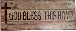 Inspire Nation God Bless This Home Wall Plaque Decor