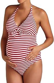 98b68e99c4bc3 LUBITY Femme Tankini Maillot de Bain1 Pièces Grossesse Maillot de Bain  GrandeTaille Maternité Tankini Enceinte Natation
