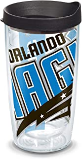 Tervis NBA Orlando Magic Colossal Tumbler with Wrap and Black Lid 16oz, Clear