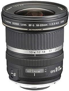 Canon Zoomobjektiv EF S 10 22mm F3.5 4.5 USM Ultraweitwinkel für EOS (77 mm Filtergewinde), schwarz