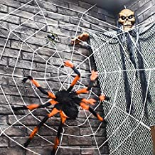 Outdoor Halloween Decorations, Scary Spider with Spider Web, Best for Halloween Party Decorations, Party Favors