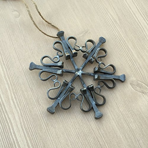 Snowflake Equestrian Ornament made from Authentic Draft Horse Horseshoe Nails, HANDMADE in NEW HAMPSHIRE, USA
