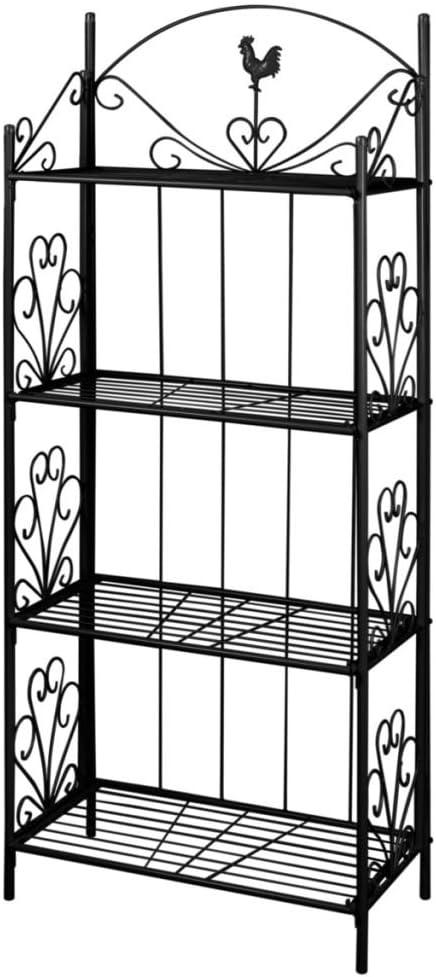 Schwarz Tidyard Pflanzentreppe Blumenst/änder Blumenst/änder Metall 5 Ebenen Blumenregal Standregal Gartenregal Leiterregal f/ür Innen-Balkon