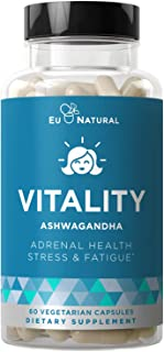 Vitality Adrenal Support, Cortisol Manager, Fatigue Fighter – Stress Relief, Healthy Cortisol, Focused Energy – Ashwagandh...