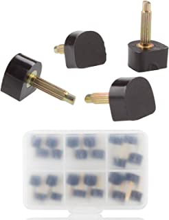 STARVAST High Heel Tips Caps High Heel Shoe Replacement Tips Dowel Lifts Stiletto Repair Heel Caps Kit Pin Taps with Storage Box (Black, 8, 9, 10 mm, 6 Sizes - 12 Pairs)