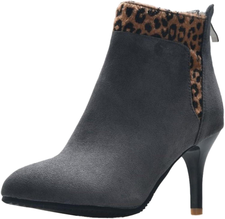 Cocey Women Ankle Thin Heel Booties Black