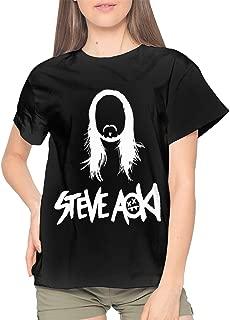 MinnieGCraig Steve Aoki Logo Women Leisure Round Neck Short Sleeve T-Shirt