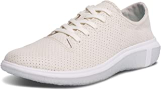 BluPrint LA Costa Trainer Mens Fashion Sneaker for Running and Walking Cloud Imprint Comfort Technology, Salt Ivory, 9.5 D(M) US