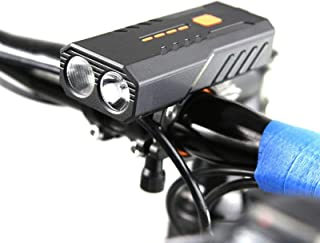 2PCS USB Rechargeable Bicycle Front Light Bike FlashLight High Quality (Color : White Light)